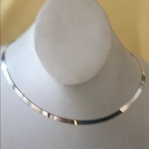 "Milor sterling silver herringbone 18"" necklace new"